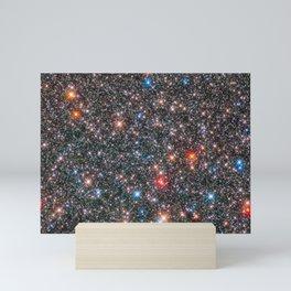 Glittering Milky Way Galaxy Bulge Telescopic Long Range Photograph Mini Art Print