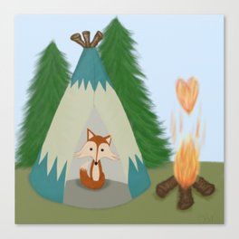 The Lone Fox Canvas Print