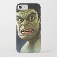 hulk iPhone & iPod Cases featuring Hulk by Jeff Delgado