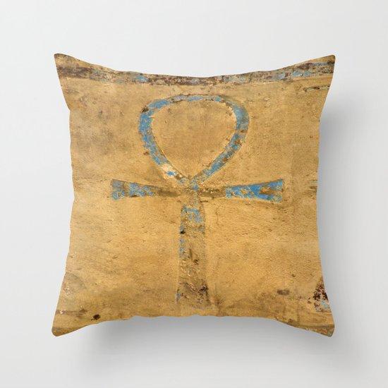 Luxor Dendera Ankh 2 Throw Pillow