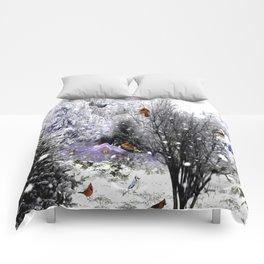 The Birds Of Winter Comforters