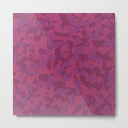 Camouflage Wild Berry Metal Print