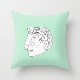Dickface Throw Pillow