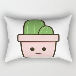 Happy Cactus 21.1 Rectangular Pillow