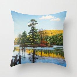 Ivy Island in Autumn Throw Pillow