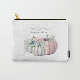 welcome autumn orange pumpkin Carry-All Pouch