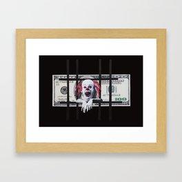 100 Dollar Bill Framed Art Print