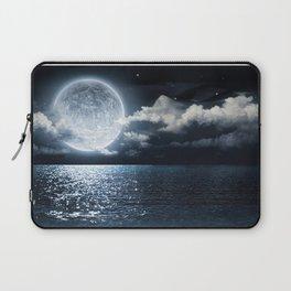 Full Moon over Ocean Laptop Sleeve