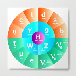 Standard Model of Particle Physics Metal Print