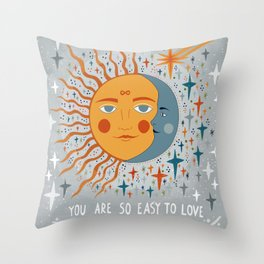 You are so easy to love Throw Pillow