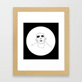 Lou Reed B & W Framed Art Print