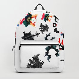 circle of Rorschach test Ink blots ! Backpack
