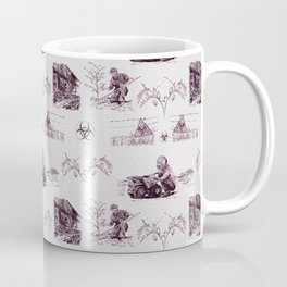 Post Apocalyptic Toile Coffee Mug