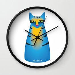 milk bottle cat : Terry Wall Clock