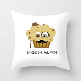 english muffin Throw Pillow