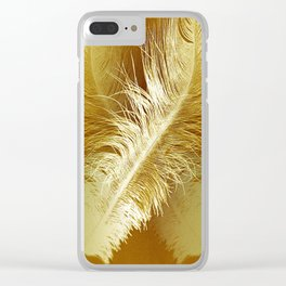 Golden Ostrich Clear iPhone Case