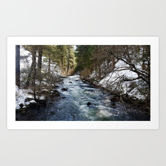 Burney Creek Art Print