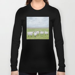 sheep and queen anne's lace Long Sleeve T-shirt