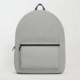 White & Grey Simulated Carbon Fiber Backpack