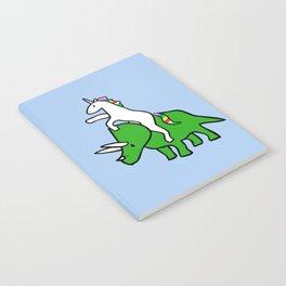 Unicorn Riding Triceratops Notebook