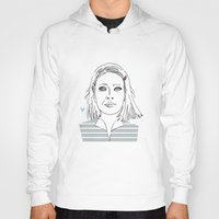 tenenbaum Hoodies featuring Margot tenenbaum / The royal Tenenbaum by Colomina Maevi