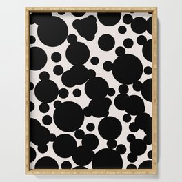 Scattered spots print Serving Tray