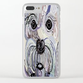 MALTESE Denim Colors Clear iPhone Case