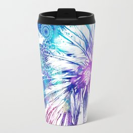 mandala colorful headdress Travel Mug
