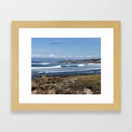 Pebble Beach Landscape Framed Art Print