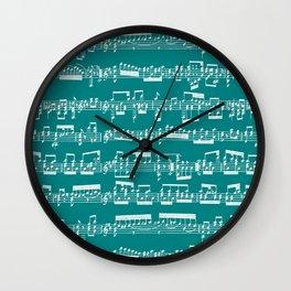 Sheet Music // Teal Wall Clock