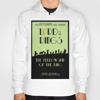 lotr Hoodies featuring LOTR The Fellowship of the Ring Minimalist Poster by Sean Breeding Arthouse