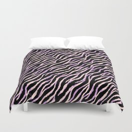 Pastel zebra fur texture II Duvet Cover