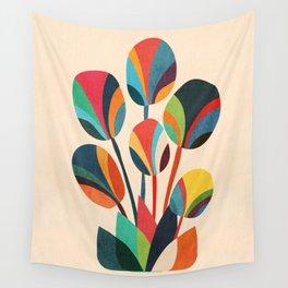 Ikebana - Geometric flower Wall Tapestry