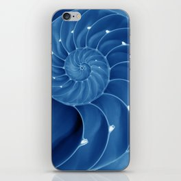 Malibu Blu Mood - Chambered Nautilus  iPhone Skin