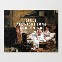 girls all night long Canvas Print