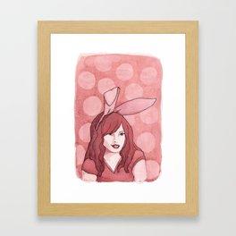 Polka Dot Bunny Framed Art Print