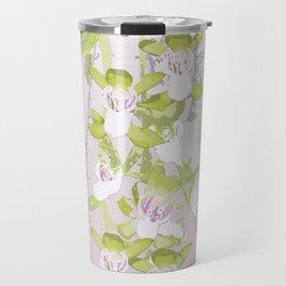 Australian Orchid Design by Chrissy Wild Travel Mug
