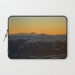 Glow behind the Alps Laptop Sleeve