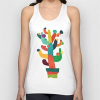 cactus Tank Tops featuring Whimsical Cactus by Picomodi