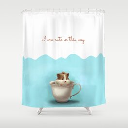 hamster in the cup Shower Curtain