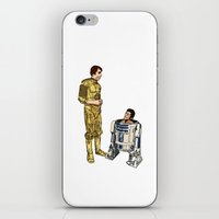 c3po iPhone & iPod Skins featuring C3PO & R2D2 by joshuahillustration