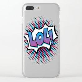 Pop Art LOL! Clear iPhone Case