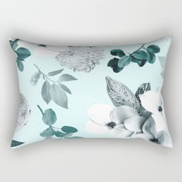 Night bloom - moonlit mint Rectangular Pillow