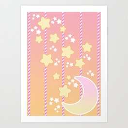 Tutti Fruity Moon Star Art Print