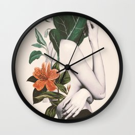 natural beauty-collage 2 Wall Clock