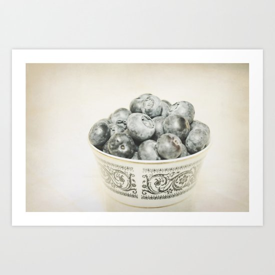 Blueberry Bowl Art Print