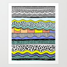 NATIVE WAVES Art Print