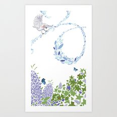 Meadow triptych part 1 Art Print