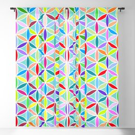Flower of Life Large Pattern – Multicoloured Blackout Curtain