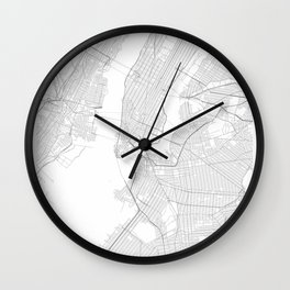 New York, United States Minimalist Map Wall Clock